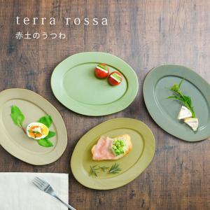 中皿 テラロッサ Largeリム オーバルプレート 24cm リムプレート 楕円皿 洋食器