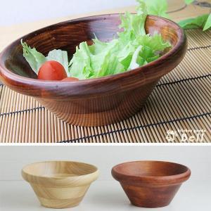一人用 サラダボール 木製 選べる2色 ブラウン/ナチュラル kitchengoods-bell