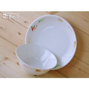 キッズ用食器 おいしい野菜食器2点セット/子供食器セット/ベビー洋食器/皿/ボウル|kitchengoods-bell