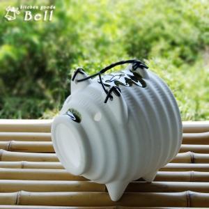 蚊取り豚 白普通サイズ 蚊取り線香入れ/蚊遣り|kitchengoods-bell