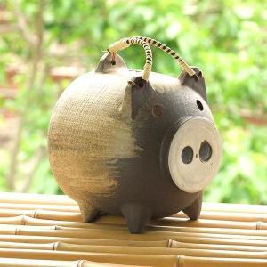 刷毛絵 蚊取り豚 普通サイズ|kitchengoods-bell