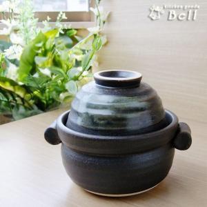 黒陶茶碗付 超耐熱 ご飯鍋 1合炊 直火 固形燃料対応 萬古焼 kitchengoods-bell
