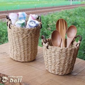 バスケット 手付き 選べる2サイズ 1個売り アミカゴ/手造り/麻/業務用食器|kitchengoods-bell