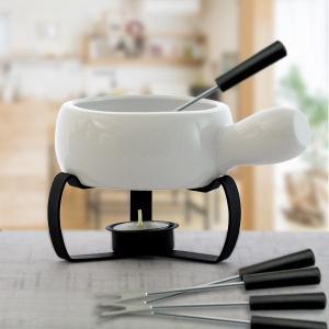 チョコ フォンデュ セット 白色 チーズフォンデュ鍋 フォンデュ キャンドル|kitchengoods-bell