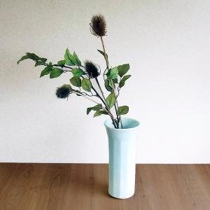 快山窯 花瓶 面取 青白磁 ギフト プレゼント 贈り物|kitchengoods-bell