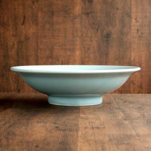 青磁 8.0寸 24.5cm 深皿 1個/シューマイ 皿/特大チャーハン 皿/中華食器/業務用食器/...