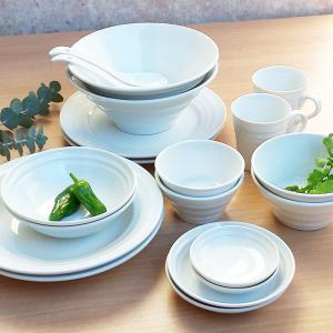 洋食器セット 白い食器 20点セット 送料無料 大皿 深皿 深ボウル3サ イズ 浅ボウル 取皿 小皿 フリーカップ レンゲ 10種類各2|kitchengoods-bell