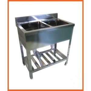 送料無料 BOTTA(ボッタ) 2槽シンク900*450*800 BWS-945|kitchenking