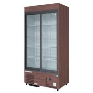 送料無料 新品 フクシマ スライド扉リーチインショーケース 冷蔵タイプ 木目調 MSS-090GHMSR  受注生産|kitchenking