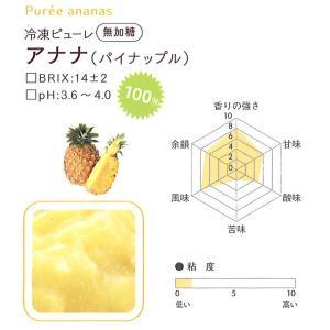 冷凍ピューレ ボワロン 無加糖 アナナ (パイナップル)   1kg 【通年クール便】【お取寄せ】 冷凍便をお選び下さい|kitchenmaster