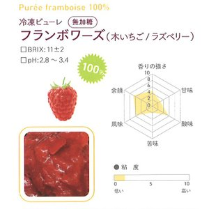 冷凍ピューレ ボワロン 無加糖 フランボワーズ  1kgx6個 【通年クール便】【お取寄せ】 冷凍便をお選び下さい|kitchenmaster