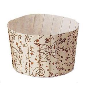 紙マフィンカップ 大 花柄 80枚入 直径65x50mmH [M213]|kitchenmaster