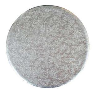 ケーキカード 丸・銀 3インチ 約76mm  シュガークラフト|kitchenmaster