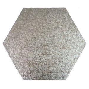 ケーキドラム 六角形・銀 14インチ  シュガークラフト|kitchenmaster