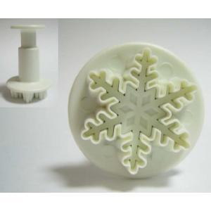 抜き型 雪の結晶 小 プランジャー付 [705] PME社製  シュガークラフト|kitchenmaster