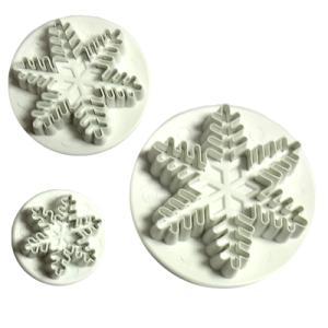 抜き型 雪の結晶 プランジャー付 3サイズ [708] PME社製  シュガークラフト|kitchenmaster