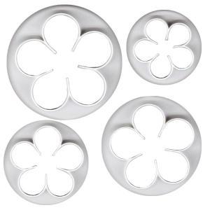 抜き型 5花弁 4サイズ [510]  シュガークラフト|kitchenmaster
