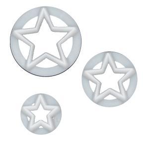 抜き型 星 3サイズ [ST3]  シュガークラフト|kitchenmaster