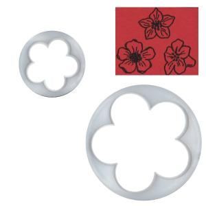 抜き型 5弁花びら 2サイズ [BLL]  シュガークラフト|kitchenmaster