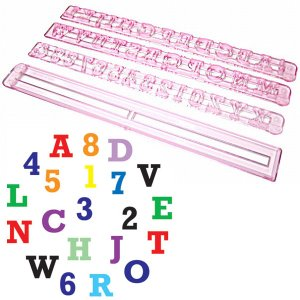 抜き型 アルファベットと数字 活字体 [ALP1]  シュガークラフト|kitchenmaster