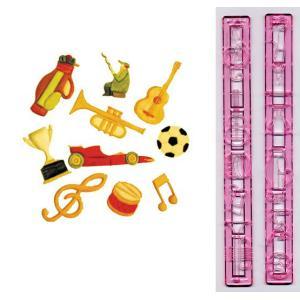 抜き型 楽器とスポーツ 10種 [M&S]  シュガークラフト|kitchenmaster