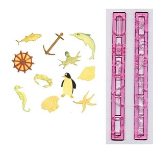 抜き型 海の動物 11種 [MAR]  シュガークラフト|kitchenmaster