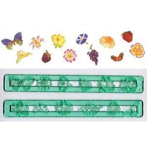 抜き型 小花とフルーツと蝶12種 [FLO]  シュガークラフト|kitchenmaster