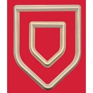 抜き型 盾枠(3) 2サイズ   [SHL3/3a]  シュガークラフト|kitchenmaster