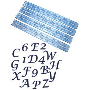 抜き型 アルファベット大文字と数字 筆記体 [ALP1S]  シュガークラフト|kitchenmaster