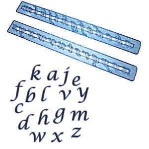 抜き型 アルファベット小文字 筆記体 [ALP2S]  シュガークラフト|kitchenmaster