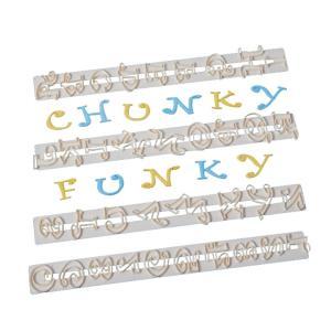 抜き型 チャンキー ファンキー アルファベット文字・数字 [CHFUNK]  シュガークラフト|kitchenmaster