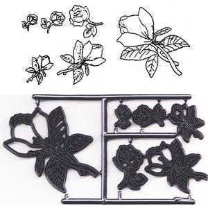 押し型 バラとモクレンの花 6種 [pw53]  シュガークラフト|kitchenmaster