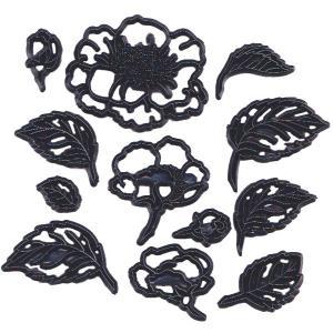 抜き型 ワイルドローズの花・葉 12種  [pw62]  シュガークラフト|kitchenmaster