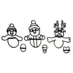 押し型 サンタ、スノーマン、トナカイ [pw82]  シュガークラフト kitchenmaster