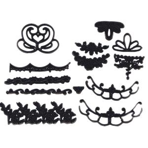 押し型 小物・刺繍模様13ケセット [pw86]  シュガークラフト|kitchenmaster