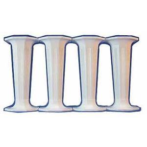 ピラー 八角/小/白 3.5インチ4本セット [35WH]  シュガークラフト|kitchenmaster