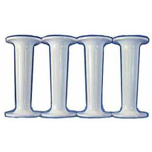 ピラー 丸/小/白 3.5インチ 4本セット [35WH/R]  シュガークラフト|kitchenmaster