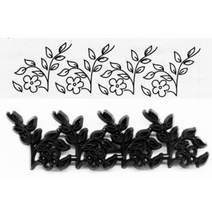 抜き型 花と小枝の刺繍模様 [pw99] 【在庫限り】  シュガークラフト|kitchenmaster