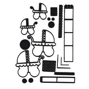 抜き型  ベビーカーセット [pw102]  シュガークラフト|kitchenmaster