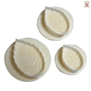 抜き型 バラの葉 プランジャー付 3サイズ [02] 中国製  シュガークラフト kitchenmaster