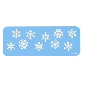 ステンシル 雪の結晶 [SCH8] 21x8cm  結晶1個約25mm シュガークラフト|kitchenmaster