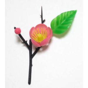 ひなまつり ケーキデコレーション 桃の花一輪  プラスチック製 [43221]|kitchenmaster