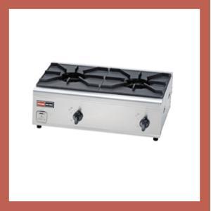 リンナイ  業務用ガステーブルコンロ  RSB-206N  2口内炎バーナ RSB206N|kitchenoutlet