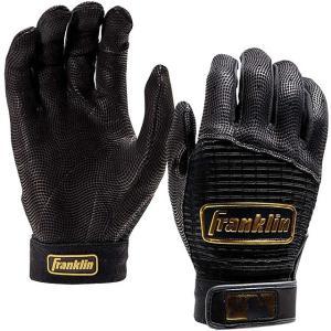 (送料無料)(即日発送)フランクリン バッティング用手袋 プロ クラシック ブラック×ゴールド 両手売り 20984|kitospo