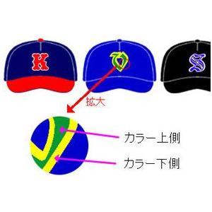 野球用帽子・追加マーキング 2重圧着 MK-B2|kitospo
