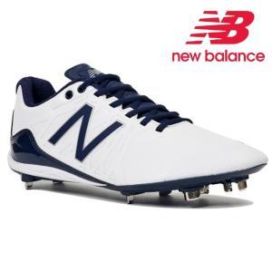 (即日発送)ニューバランス 野球用金属スパイク ホワイト×ネイビー AB100 WN3|kitospo