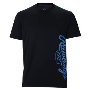 (即日発送)ローリングス Tシャツ ビッグロゴ Tシャツ ブラック AST10S07|kitospo