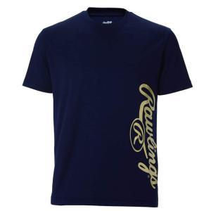 (即日発送)ローリングス Tシャツ ビッグロゴ Tシャツ ネイビー AST10S07|kitospo