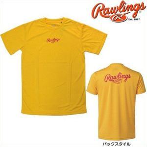 (即日発送)ローリングス ロゴプリントTシャツ イエロー AST4S02|kitospo
