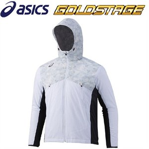 アシックス ゴールドステージ ウインドアップジャケット ホワイト BAW010|kitospo